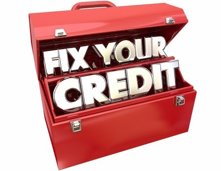 Fix your credit score red tool box
